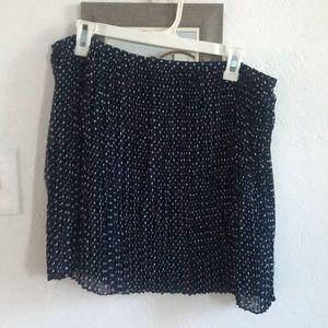 Madewell size L blue polka dot chiffon skirt